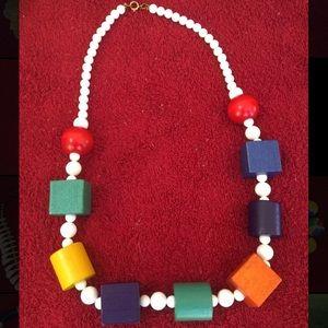 Handmade balsam wood necklace!